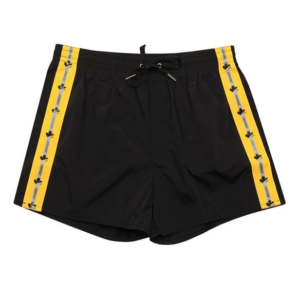 Dsquared2 Mens Black Side Tape Swim Short