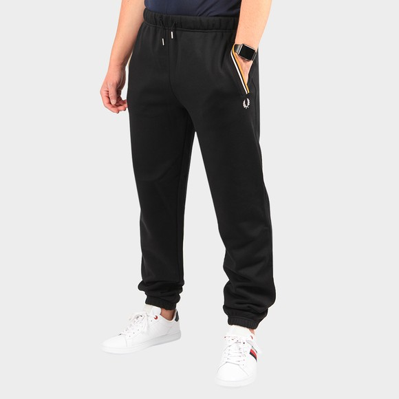 Fred Perry Mens Black Loopback Sweatpant