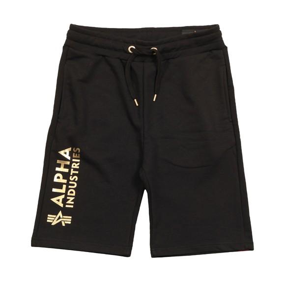 Alpha Industries Mens Black Basic AOP Foil Print Sweat Short