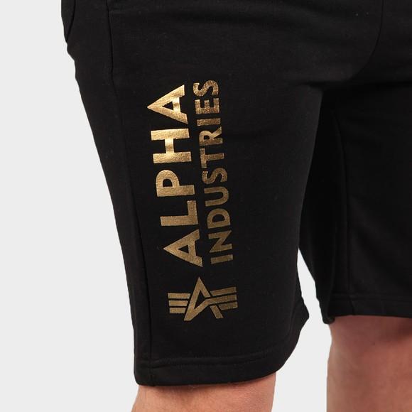 Alpha Industries Mens Black Basic AOP Foil Print Sweat Short main image