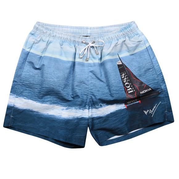 BOSS Bodywear Mens Blue Springfish Swim Short