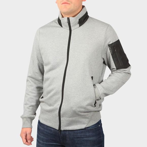 Esemplare Mens Grey Full Zip Organic Fleece Sweatshirt
