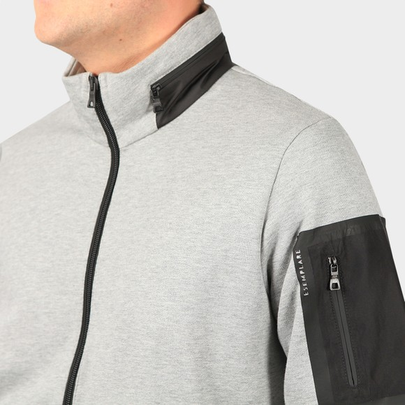 Esemplare Mens Grey Full Zip Organic Fleece Sweatshirt main image