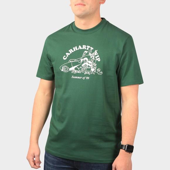 Carhartt WIP Mens Green Flat Tire T-Shirt