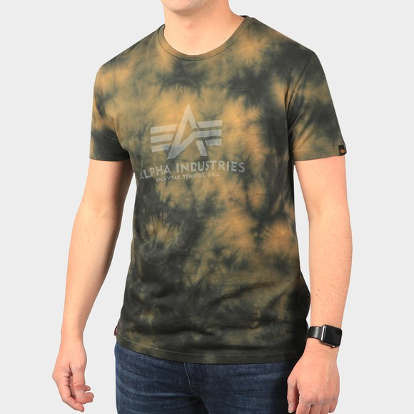 Alpha Industries Mens Brown Basic Batik T Shirt
