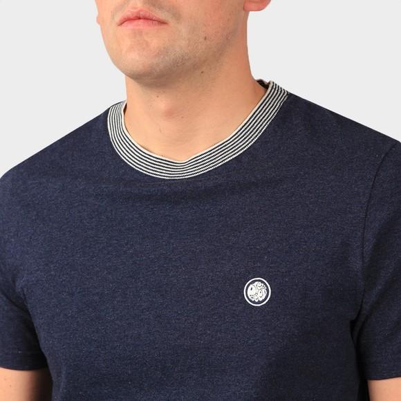 Pretty Green Mens Blue Nautical Tipped T-Shirt main image