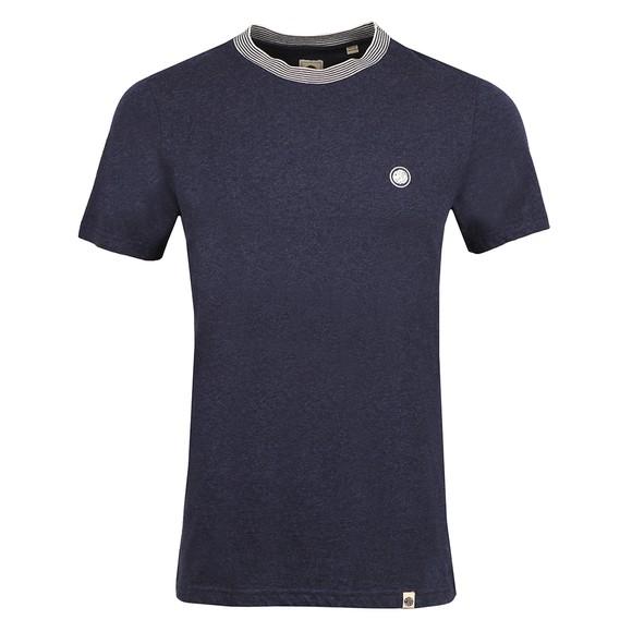 Pretty Green Mens Blue Nautical Tipped T-Shirt