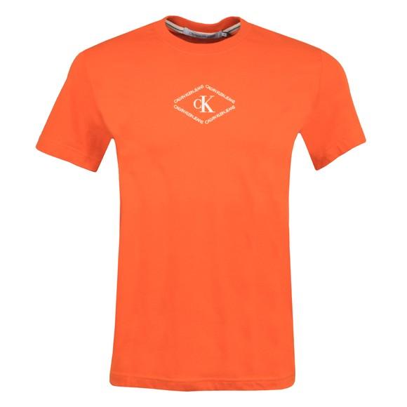Calvin Klein Jeans Mens Orange Mono Triangle T-Shirt