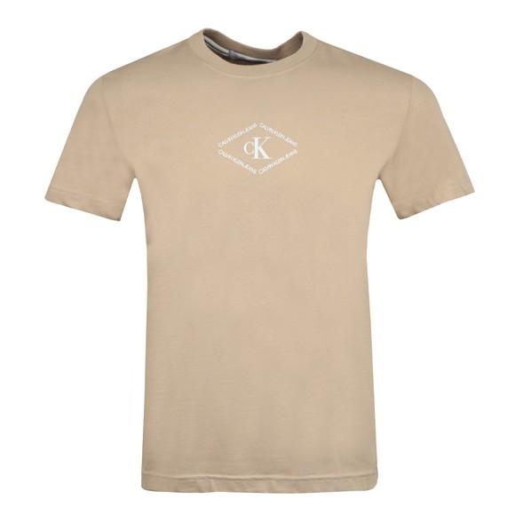 Calvin Klein Jeans Mens Beige Mono Triangle T-Shirt
