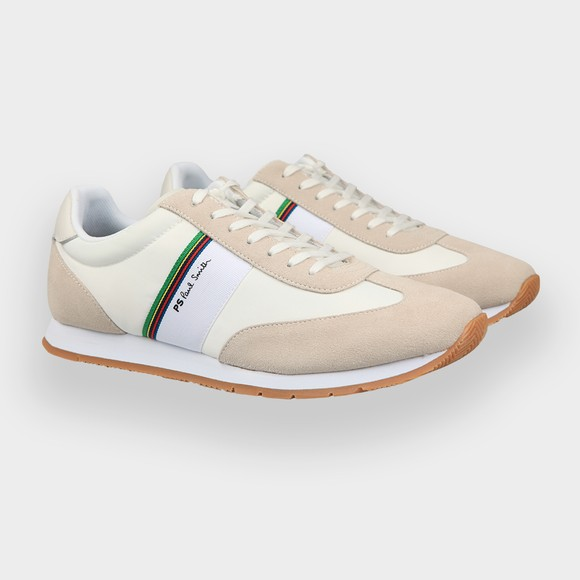 PS Paul Smith Mens White Prince Trainer
