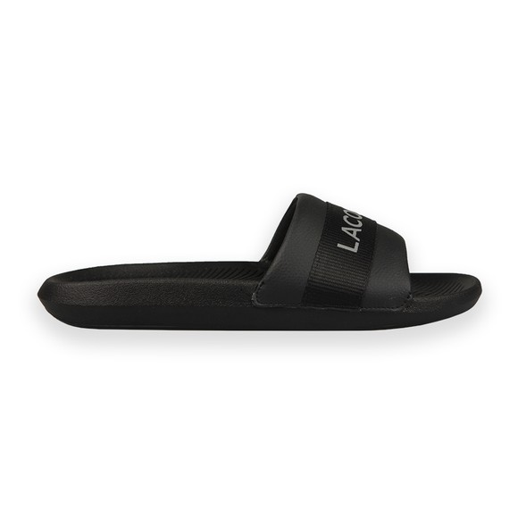 Lacoste Sport Mens Black Croco Slide