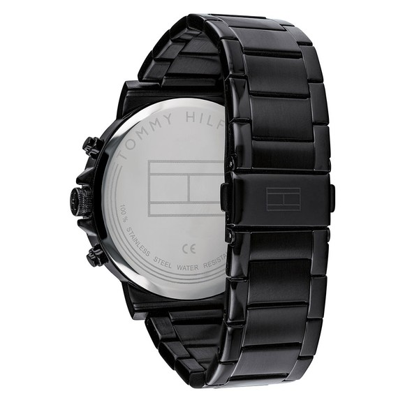 Tommy Hilfiger Mens Black 1791226 Watch main image