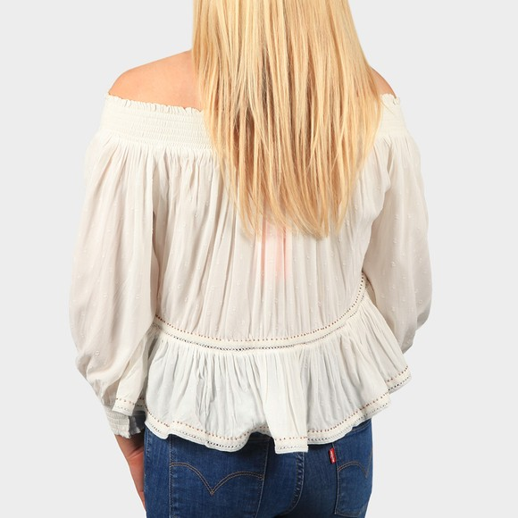 Superdry Womens White Ameera Off Shoulder Top main image