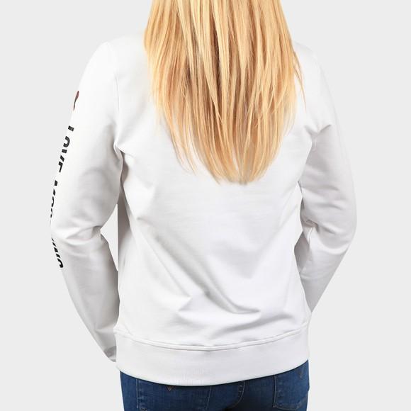 Love Moschino Womens White Sleeve Logo Sweatshirt main image