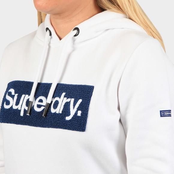 Superdry Womens White Workwear Hoody main image