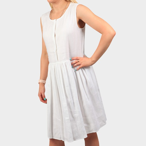 Superdry Womens White Textured Day Dress