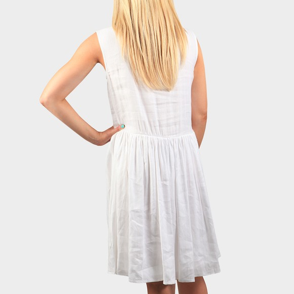 Superdry Womens White Textured Day Dress main image