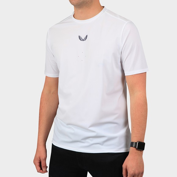 Castore Mens White Tech Performance T-Shirt