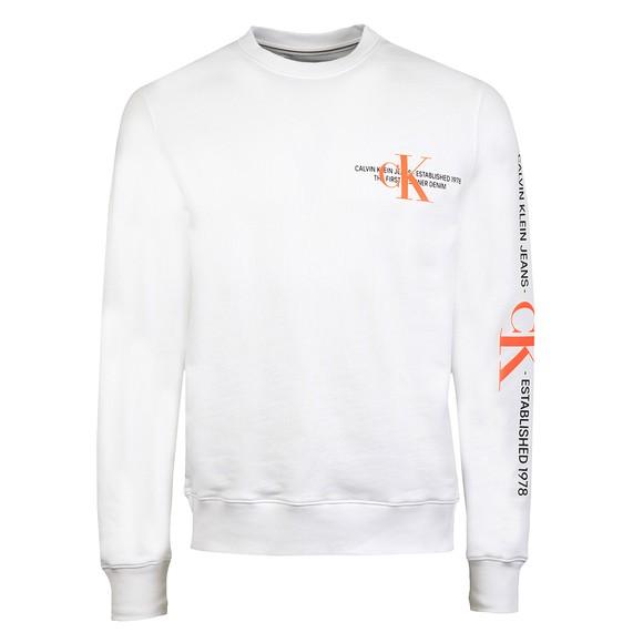 Calvin Klein Jeans Mens White Urban Graphic Sweatshirt