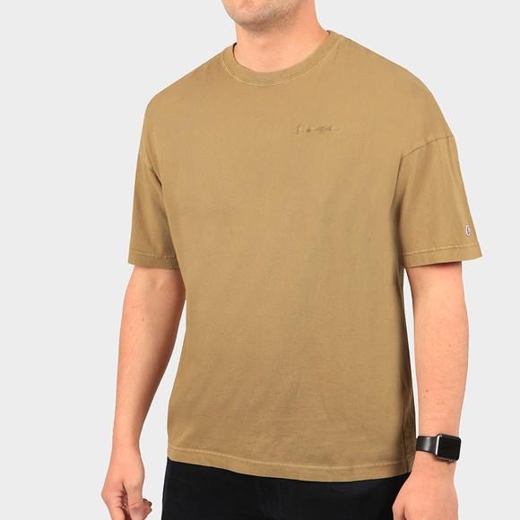 Champion Reverse Weave Mens Green Crew Neck T-Shirt main image
