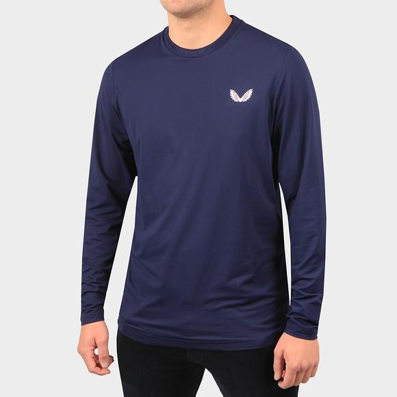 Castore Mens Blue Active Long Sleeve T-Shirt