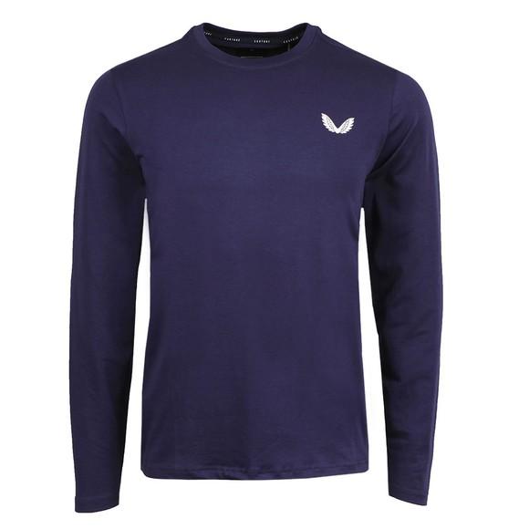 Castore Mens Blue LS T-Shirt
