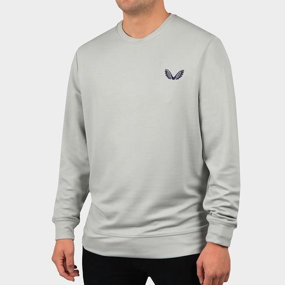 Castore Mens Grey Med Logo Sweatshirt