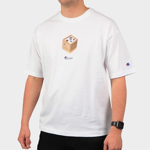 Champion Mens White Box T-Shirt