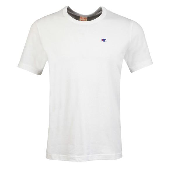 Champion Mens White Crew Neck T-Shirt