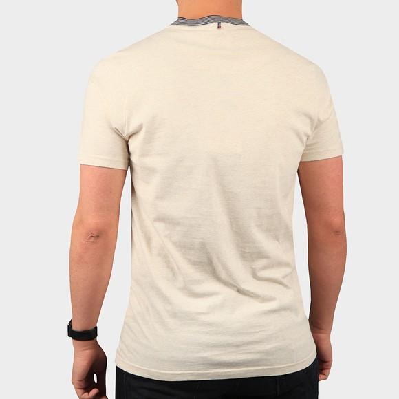 Pretty Green Mens Beige Nautical Tipped T-Shirt main image