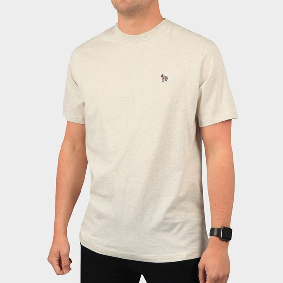 PS Paul Smith Mens Beige Zebra T-Shirt