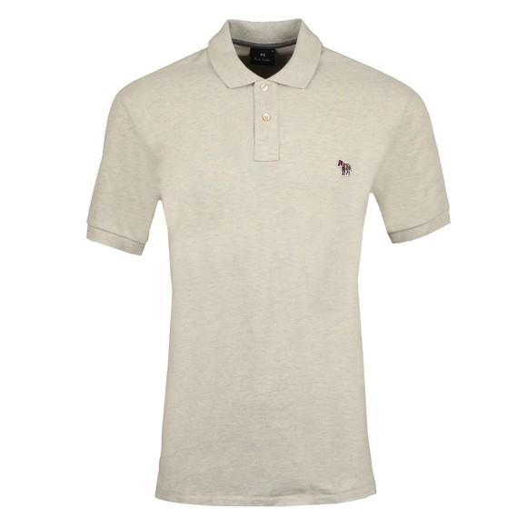 PS Paul Smith Mens Beige Zebra Polo Shirt