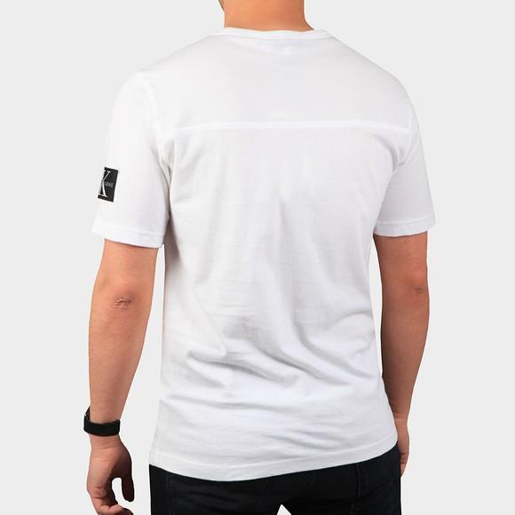 Calvin Klein Jeans Mens White Sleeve Badge T-Shirt main image