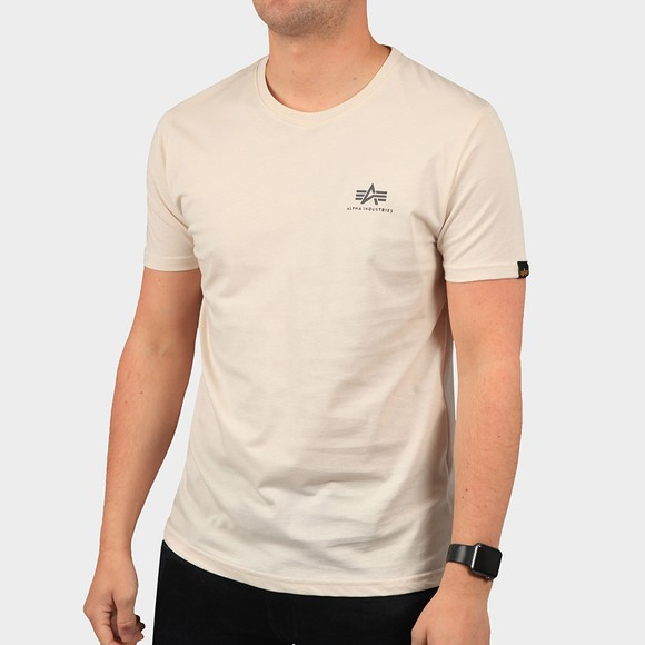 Alpha Industries Mens White Basic Small Logo T Shirt