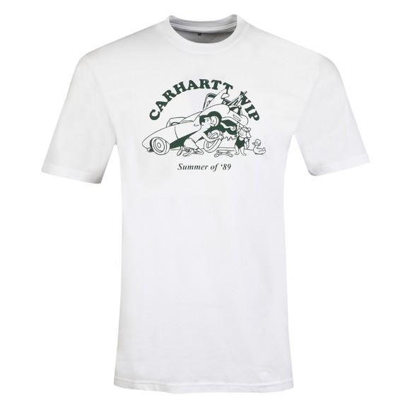 Carhartt WIP Mens White Flat Tire T-Shirt