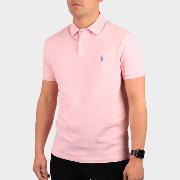 Polo Ralph Lauren Mens Pink Custom Slim Fit Short Sleeve Polo Shirt