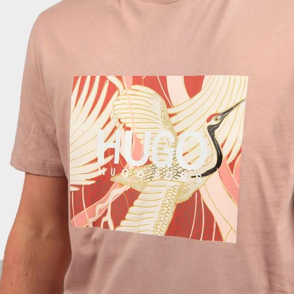 HUGO Mens Pink Dolive U213 T Shirt main image