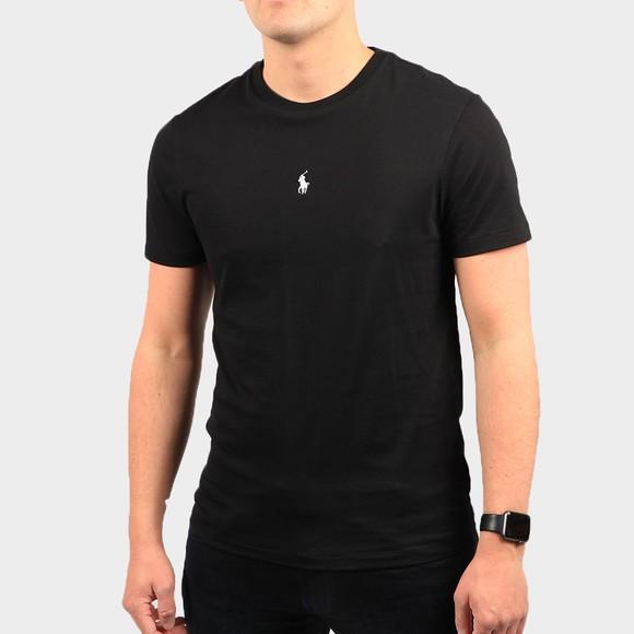 Polo Ralph Lauren Mens Black Slim Fit Centre Logo T Shirt