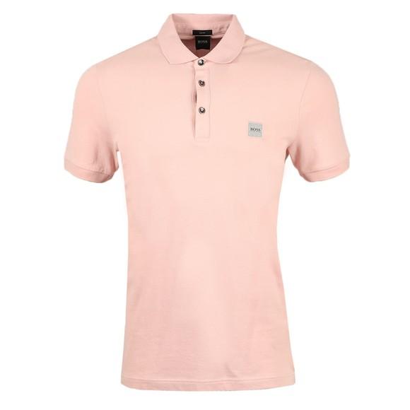 BOSS Mens Pink Casual Passenger Polo Shirt