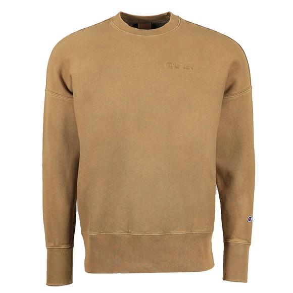 Champion Mens Green Crew Neck Sweatshirt