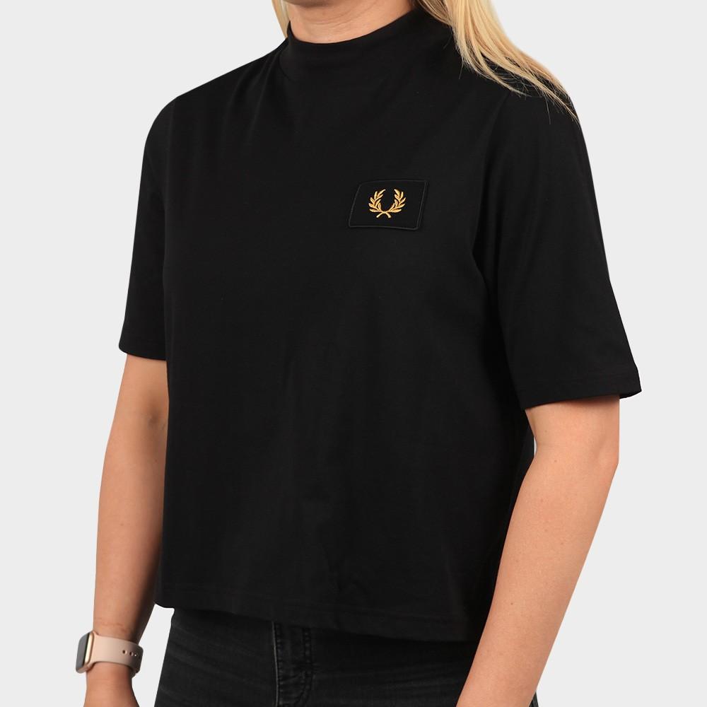 High Neck Badge Detail T Shirt main image