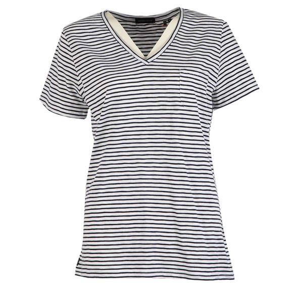 Superdry Womens Blue Pocket V Neck T Shirt