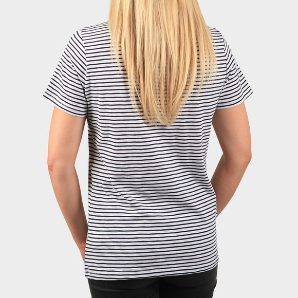 Superdry Womens Blue Pocket V Neck T Shirt main image