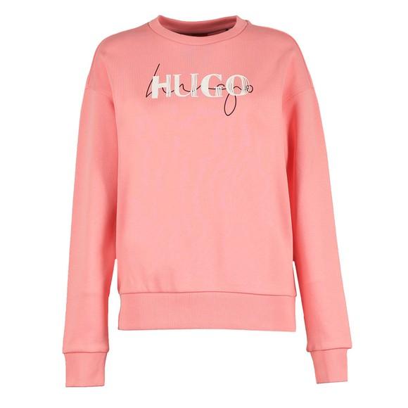 HUGO Womens Pink Nakira Sweatshirt