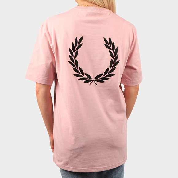 Fred Perry Womens Pink Oversized Badge Detail T Shirt main image