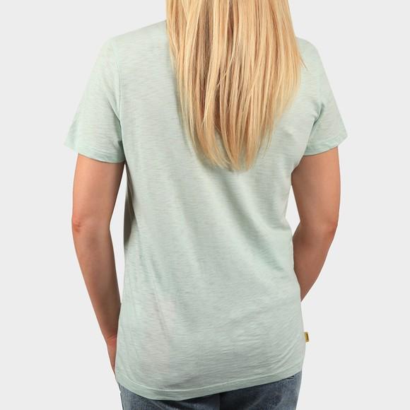 Superdry Womens Green Pocket V Neck T Shirt main image