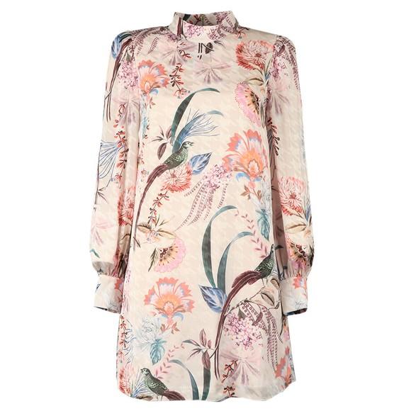 Ted Baker Womens Off-White Lillium Decadence Shift Mini Dress