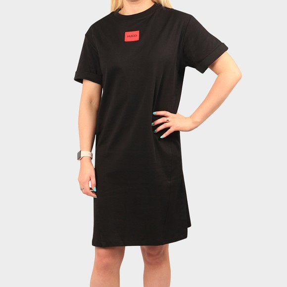HUGO Womens Black Neyle Jersey Dress