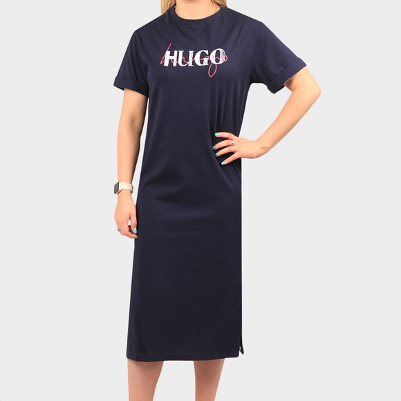 HUGO Womens Blue Naily T-Shirt Dress