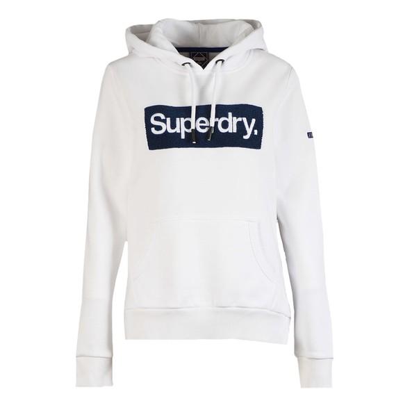 Superdry Womens White Workwear Hoody